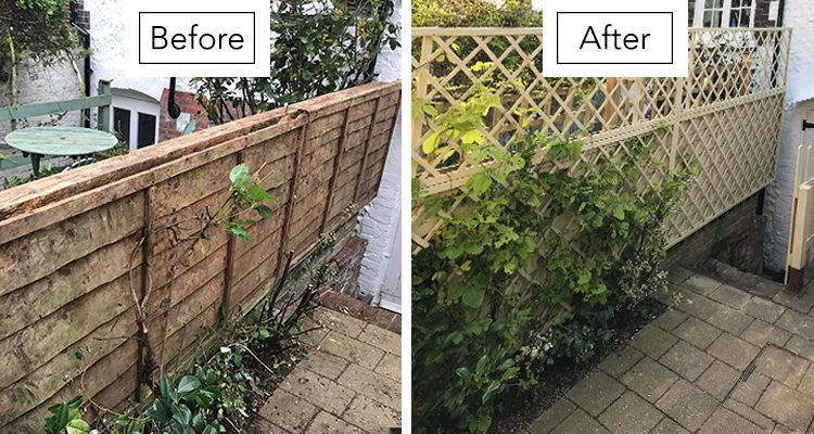 Rose Cottage in Arundel Garden Fence Makeover