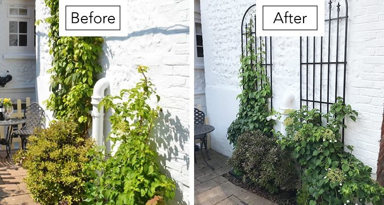 Rose Cottage in Arundel Garden Wall Makeover